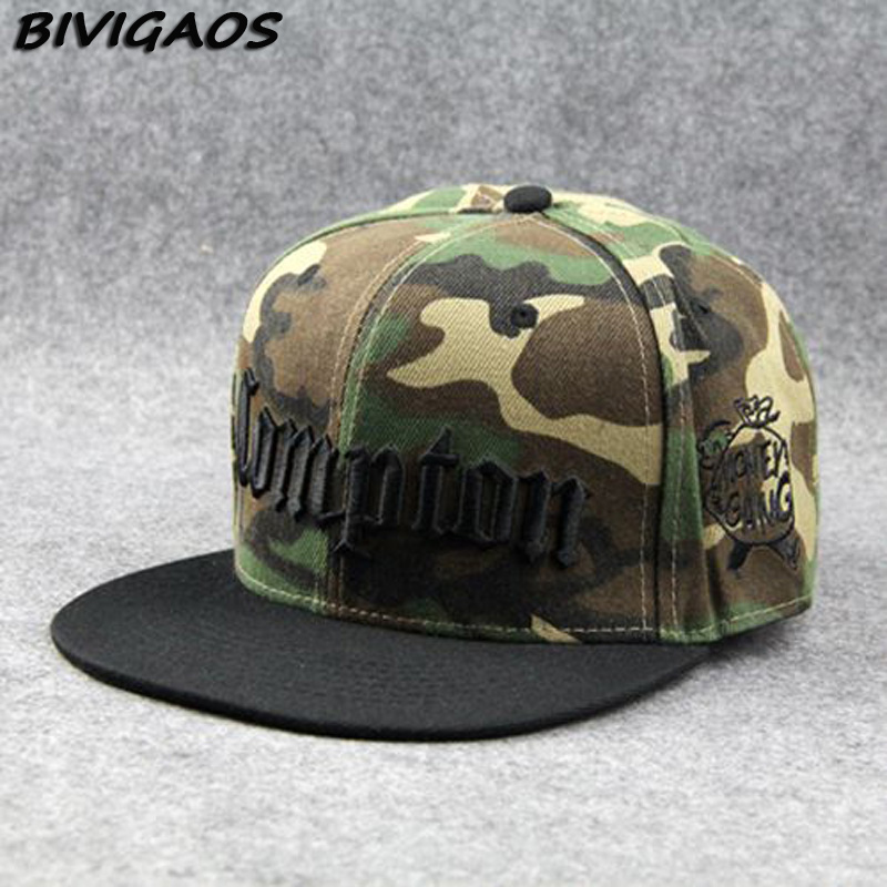 New 2018 Fashion Men   Cap   Black Compton Letters Embroidery Snapback Hats Hiphop Hat   Baseball     Cap   Hip Hop   Caps   For Men Women Bones
