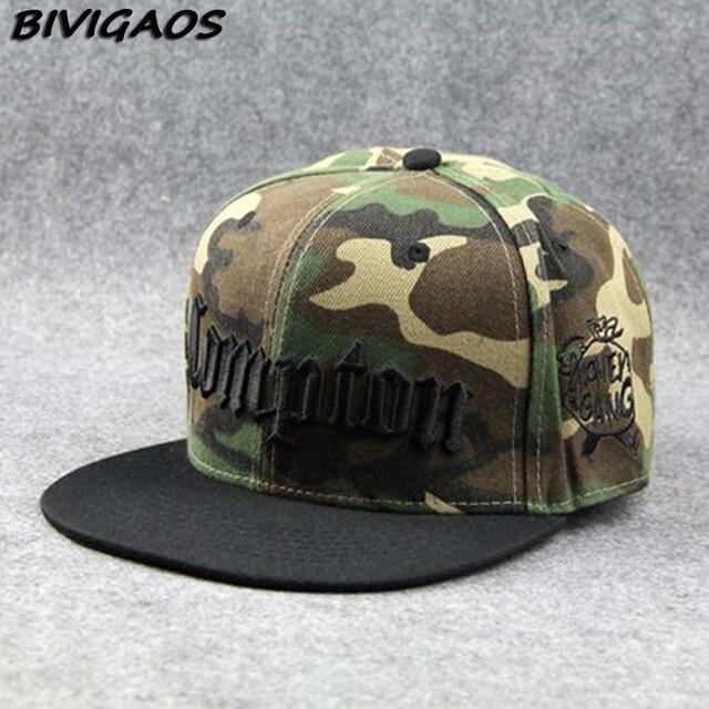 Novedad 2018 moda hombres gorra negro Compton letras bordado Snapback  sombreros Hiphop gorra de béisbol Hip dd7655e5721