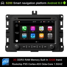 Android 8.0 system PX5 Octa 8-Core CPU 2G Ram 32GB Rom Car DVD Radio GPS for Dodge RAM1500 RAM2500 RAM3500