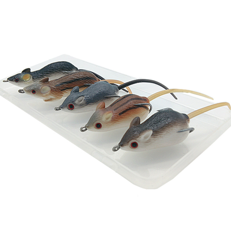 Shunmier 5pcs 10g mouse soft baits fishing lure pesca for Mouse fishing lure