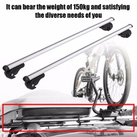 120cm Aluminum Alloy Universal Silver Car Roof Rack Cross Bar Lockable Rail Luggage Carrier