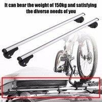 120cm Aluminum Alloy Universal Silver Car Roof Rack Cross Bar Lockable Rail Luggage Carrier Car Accessories