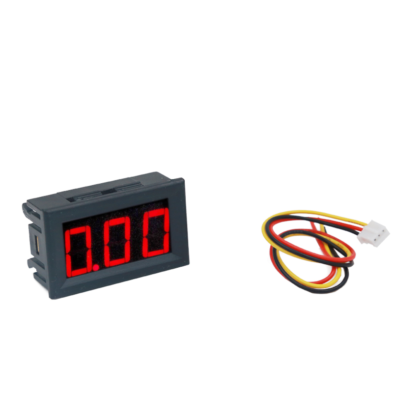 by DHL Fedex100 pcs 0.56 3 Bit Red LED display Meter Digital voltmeter Amp Panel voltage DC 100V