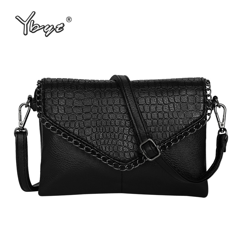 High Quality Alligator Chains Handbags Fashion Women Envelope Clutch Ladies Party Famous Brand Shoulder Messenger Crossbody Bags