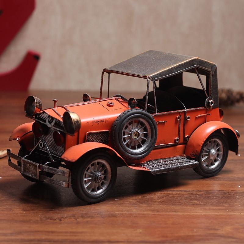 Rétro artisanat Vintage modèles de voiture en fer, voiture classique à la main pour cadeau/décor à la maison/décoration de bureau-plusieurs Options de couleur