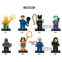 1PCS model bouwstenen superheld Aquaman Clown Nick Fury Menselijk Turch Black widow catwoman diy speelgoed voor kinderen gift(China)