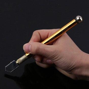 Professional Metal Handle Steel Glass Rhinestone Self-lubricating Oil Feed Tipped Glass Cutter Cutting Craft Glazing Tool Hand Tools