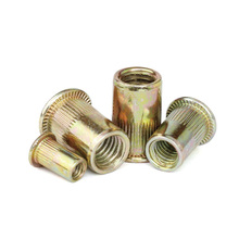 rivet nut rivnut nutsert flange metric blind M3 M4 M5 M6 M8 M10 M12 flat head zinc carbon steel threaded insert hand tools
