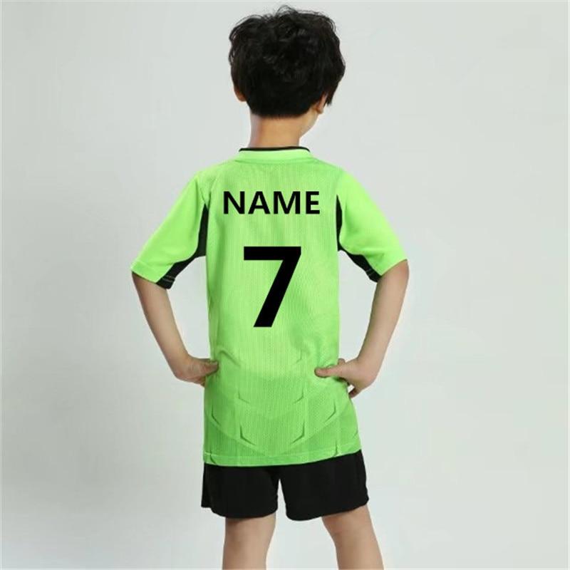 New Kids Boy Soccer Jerseys Set sports survetement Football Kits Uniforms  Futbol Training shirts shorts Suit Maillot De ... 7d9fbd42f