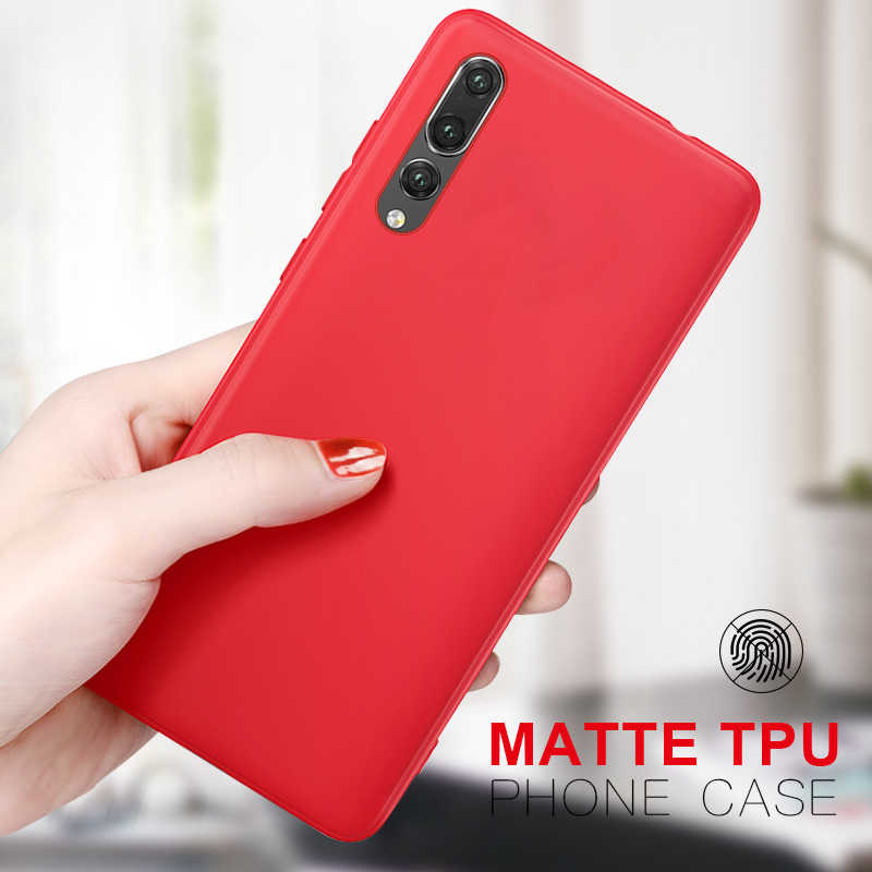 TPU Phone Case for Huawei P20 P30 Pro P10 P8 P9 Lite 2017 9 Nova 4 Nova 2 Lite P Smart 2019 Silicone Candy Color Cover Capa
