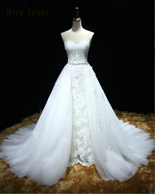 NAJOWPJG Custom Made Lace Up Bridal Gowns Abiti Da Sposa Online China Shop Beaded Waist Appliques