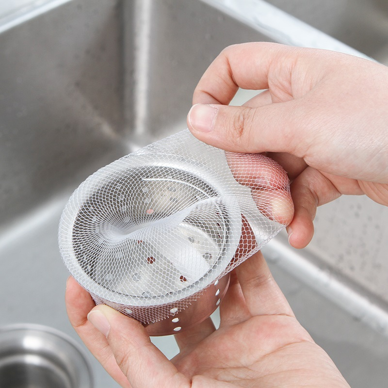 Drain Cover Bathroom Hair Filter Sink Colanders Strainer Net Bag Kitchen Tools