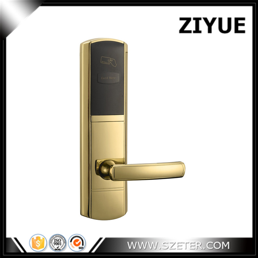 High Quality Stainless Steel RF Key Card Electronic Electric Hotel Room Door Lock  RFID with System Support ET650RF factory direct sale electric hotel lock cheaper rf card door lock