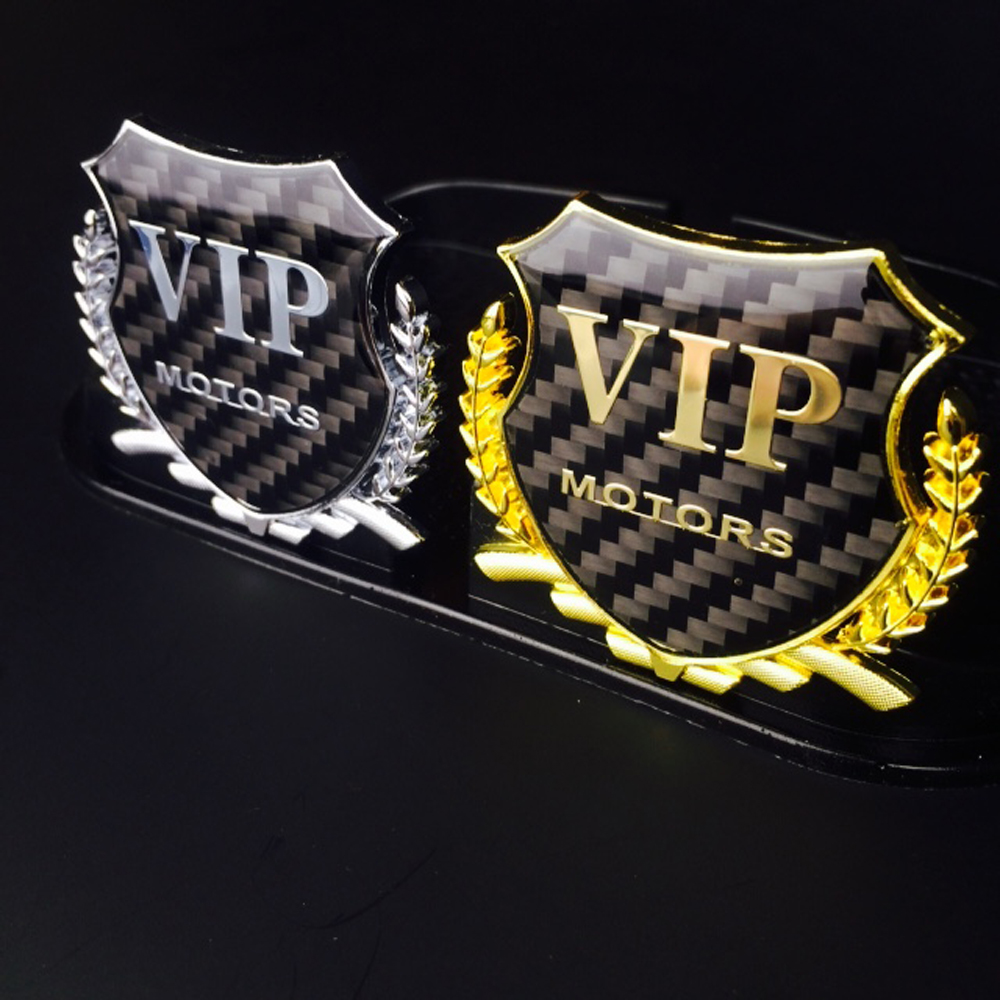 Luxury Metal Design Gold VIP Motors Car Rear Window Sticker Emblem Badge Decals