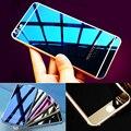 Frente + Voltar Vidro Temperado Espelho Efeito de Cor OU 3D Diamante Protetor de Tela Colorida filme caso para iphone 4 4s 5 5s 6 6 s 7 plus