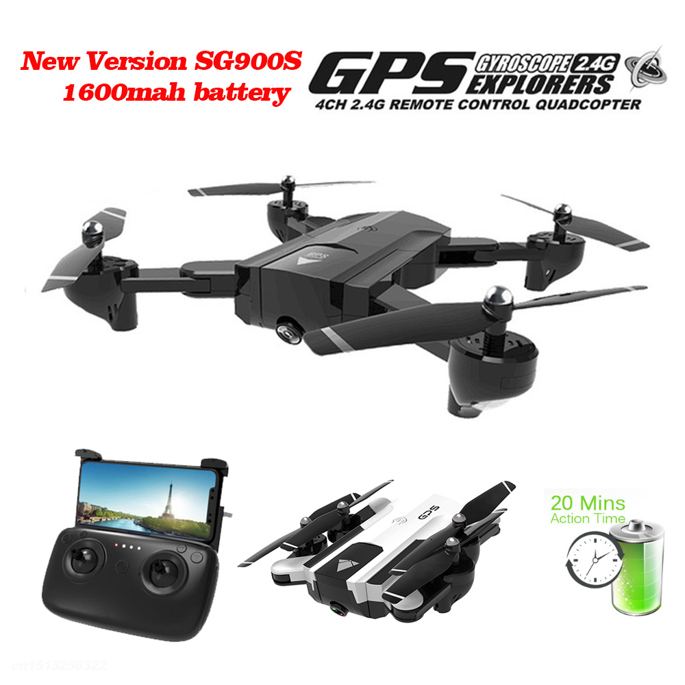 Professional GPS <font><b>Drones</b></font> With WIFI FPV 1080P 720P HD Camera <font><b>SG900S</b></font> 20minis Flying Follow Me Hold Foldable RC <font><b>Drone</b></font> Helicopter image