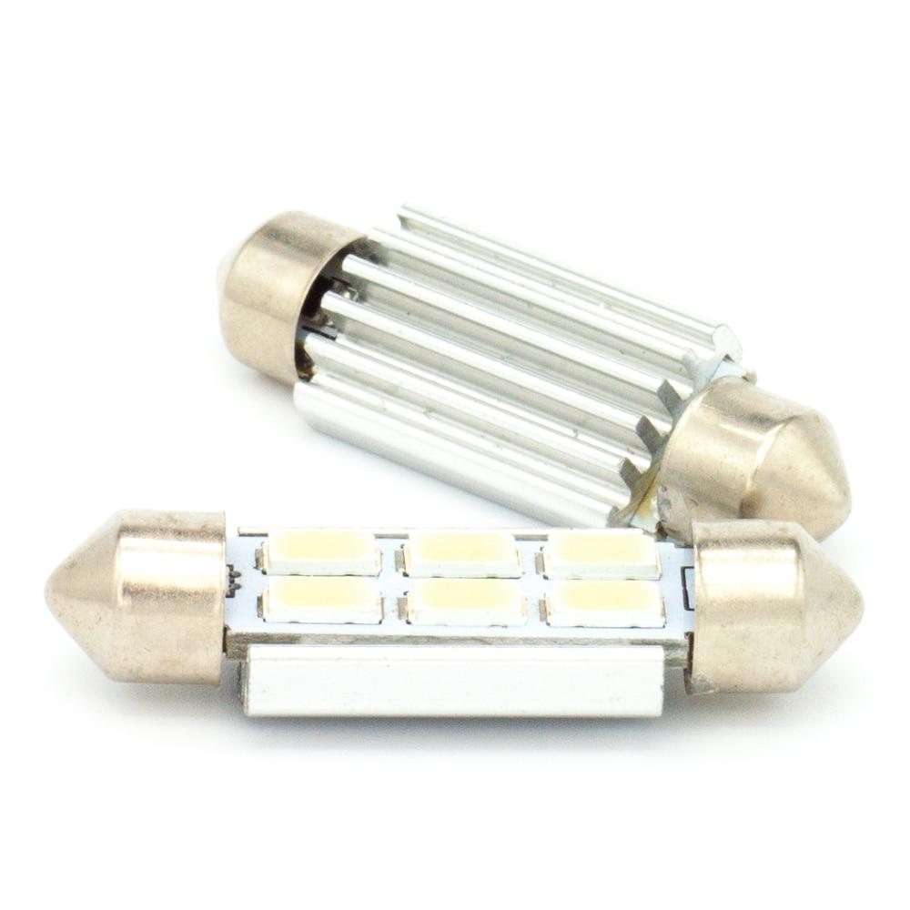 31mm 36mm 39mm 42mm Festoon Dome Lights Lamp Cool White Light Bulb Canbus Bulbs DC 12V