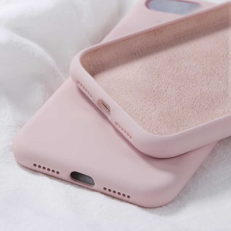 Luxury Liquid Silicone Soft Case on For iPhone 7 8 8Plus 7Plus iPhone XS Max XR X Case iPhone 6S 6 S 6Plus Cover Phone Bumper