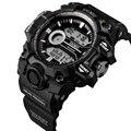 Новый мужской Водонепроницаемый LED Силиконовой Лентой Таймер Спорта Кварцевые Наручные Часы, Роскошные Мужчины Большой Размер Часы SNIMEI 0600