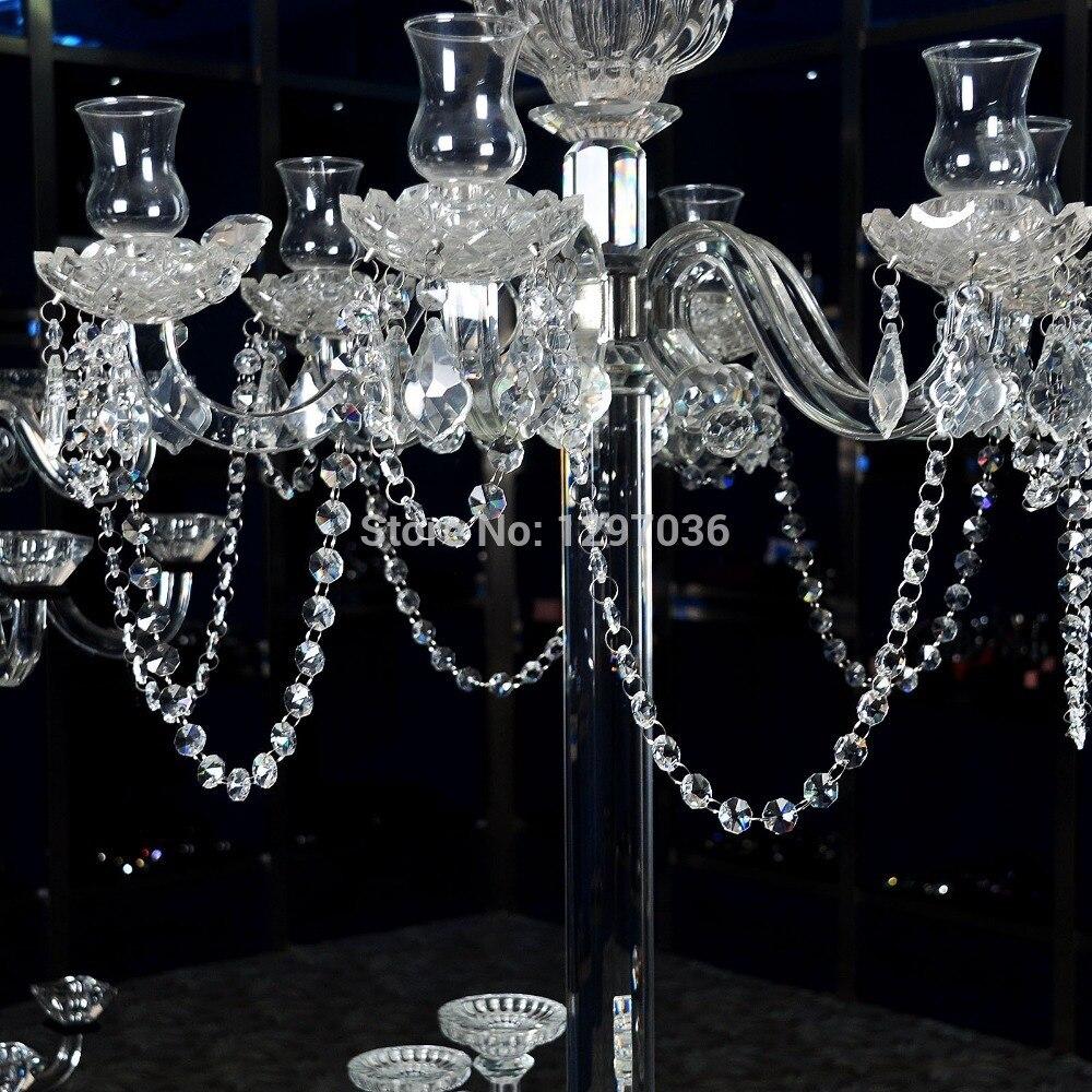 6.8Fetet Glass Crystal Prism 14mm Octagon Chandelier Chandelier Parts - Տնային դեկոր - Լուսանկար 5