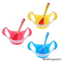 Baby temperature induction spoon fork children tableware baby learning tableware sucker food bowl tray sucker baby tableware(China)