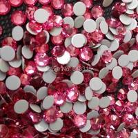Jpstrass Nhẹ Rose 6.5 mét ss30 keo Mạnh hotfix flatback rhinestone strass trang trí; nail thiết kế của đá nóng sửa chữa bán buôn