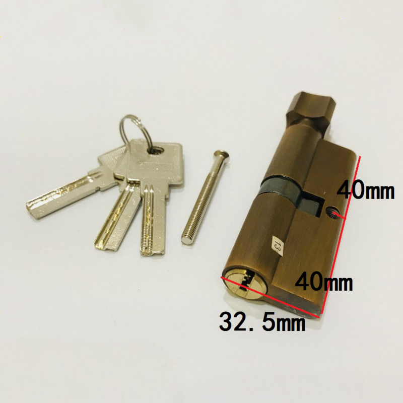 Copper Core Door Locks Security Locking Cylinders (80mm=40+40mm) for 50- 60mm Thickness Door door locks security lock cylinders more than 70mm 80mm for 35 50mm thickness door lock for home copper core lock cylinders page 4