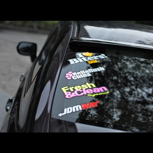 XGS DECAL Combination stickers(4 stickers)jdm hellaflush rear window  combination reflective stickers car