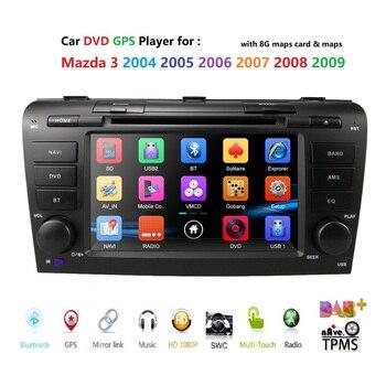car dvd for Mazda3 Mazda 2004-2009 car radio multimedia player gps navigation 2din 7 inch car Monitor steering wheel Camera dab+