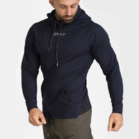 Mens Brand Hoodies Fashion Casual Gyms Fitness Bodybuilding Hooded Pullover Male Cotton Sweatshirts Sportswear Autumn Clothing