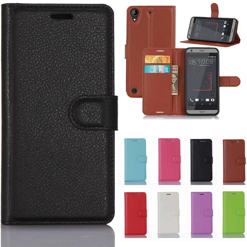 Buy Luxury Fundas Case For HTC Desire 530 630 5.0'' Phone With Stand Wallet Leather Flip Cover Bags Skin Cases For HTC 530 / HTC 630 for only 4.28 USD