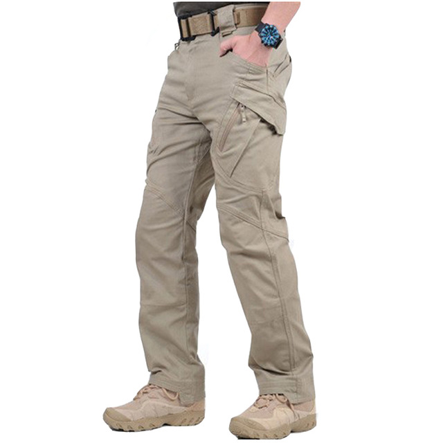 IX9 City Tactical Cargo Pants Men Combat SWAT Army Military Pants Cotton Many Pockets Stretch Flexible