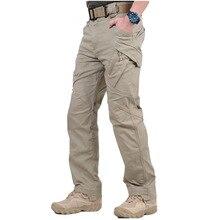 IX9 город тактические штаны-карго Для мужчин армейские SWAT Военный штаны хлопок Многие карманы стрейч Гибкий Человек брюки XXXL