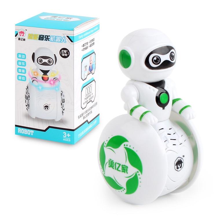 Cute Interactive Tumbler Robot Toy Smart Walking Intelligent Inducing Light  Electronic Robot Toys
