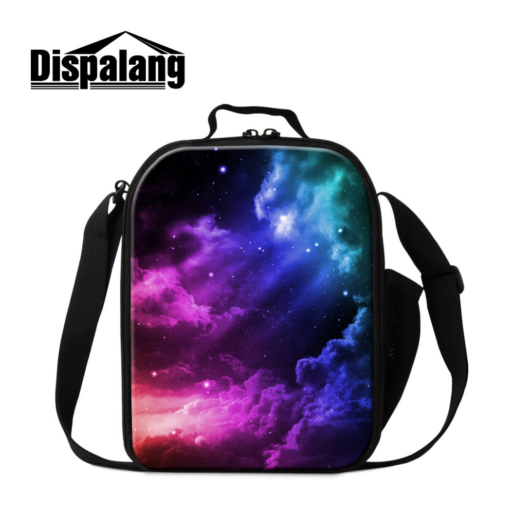 Dispalang Galaxy Lunch Bags for Children School Small Insulated Lunch Cooler Bags Boys Lunch Container Kids Pincic Meal Food Bag