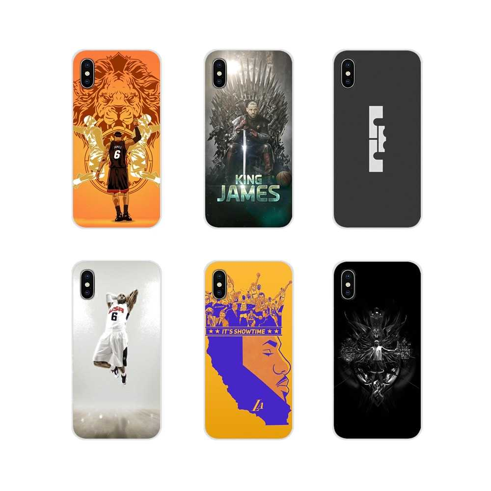 Basketball LeBron James For Samsung Galaxy S4 S5 MINI S6 S7 edge S8 S9 S10 Plus Note 3 4 5 8 9 Accessories Phone Shell Covers