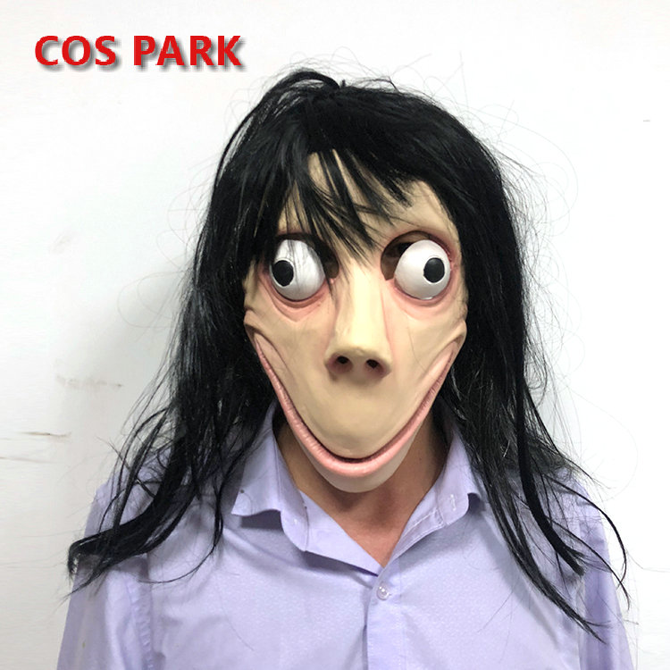 Cos Park Momo Hacking Challenge Whale Game Mask Full Head Mask Latex Masks with Wig Minecraft Terrorizer Bird Beak