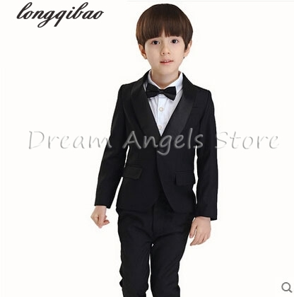 Fashion kids baby boy blazers suit formal black white clothing prom party wedding casual costume flower boy outfit The suits цена 2017