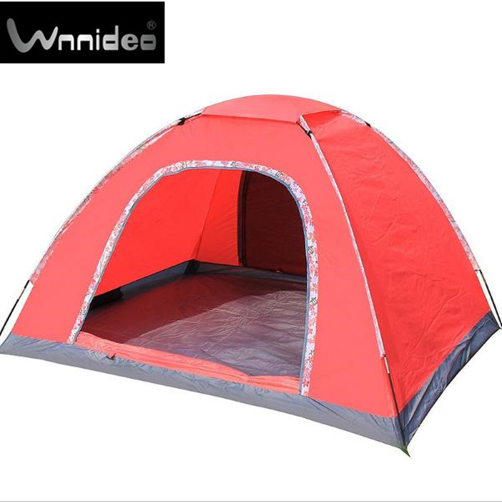 Wnnideo 3-4 Person Instant Family Tent Automatic Pop Up Tent Waterproof for Outdoor Sports Camping Hiking Travel Beach Pink