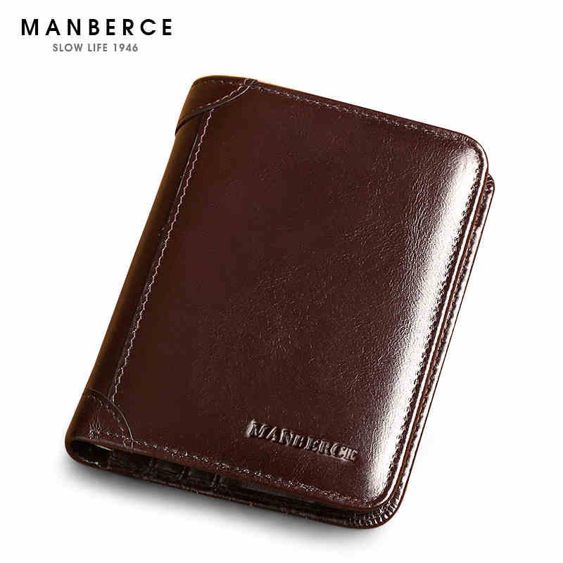 men genuine leather wallet short male clutch Luxury brand men wallets card case male purse Shining