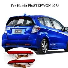 Honda Fit için STEPWGN OKEEN Araba Styling 2 Adet RG Arka Tampon reflektör Işık LED kırmızı ampul Lamba DC 12 V Park uyarı Dur f...