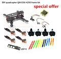 DIY гонки мини drone FPV QAV250/ZMR250 H250 мультикоптер кадров комплект чистого углерода стойки + D2204 + BLheli 12A ESC Специальный цена