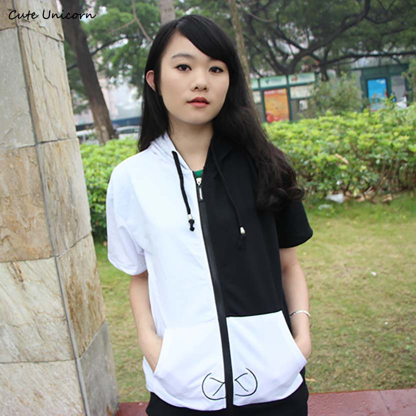 Cute Unicorn Dangan Ronpa monokuma short sleeve Coat mens Hoodie anime cosplay costume unisex sportswear Jacket