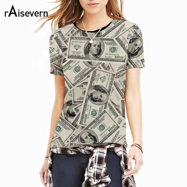095cec5c012896 Funny! 2019 Summer Fashion Women/Men T-shirt The Money Dollar Print O-neck  Novely 3d T Shirt Tops Shirts Unisex Top Tees