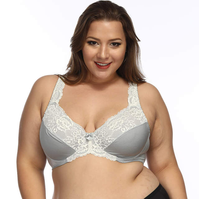 b45821de055 placeholder Sexy Lace Bras For Women Full Coverage Jacquard Non Padded Lace  Sheer Underwire Plus Size Bra