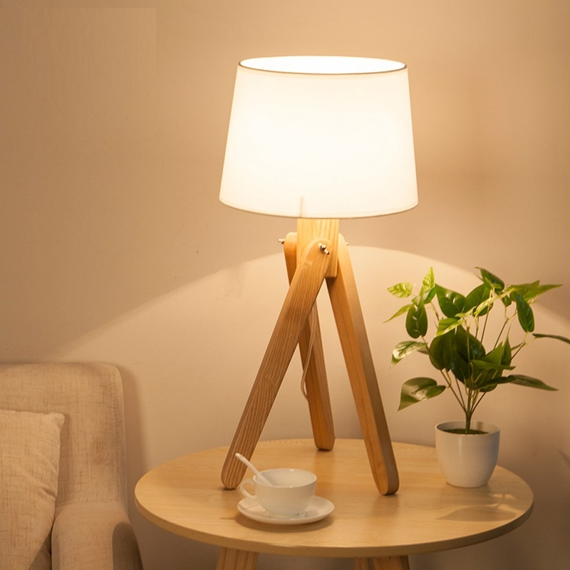 LukLoy Simple New Chinese Style Living Room Table Lamp Solid Wood Bedroom Bedside Study Eye Protection LED Rural Style LightLukLoy Simple New Chinese Style Living Room Table Lamp Solid Wood Bedroom Bedside Study Eye Protection LED Rural Style Light