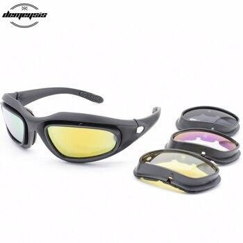 3e34264138 Gafas tácticas C5 gafas de sol polarizadas militares Airsoft caza gafas de seguridad  militar ciclismo senderismo gafas