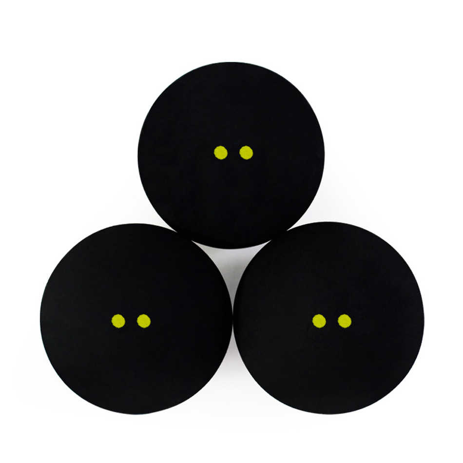 2 Pcs/ 4Pcs Rubber Squash Ball Double Yellow Point Squash Balls Training Speed Sports Rubber Bola Squash Ball Dot Squash Bola
