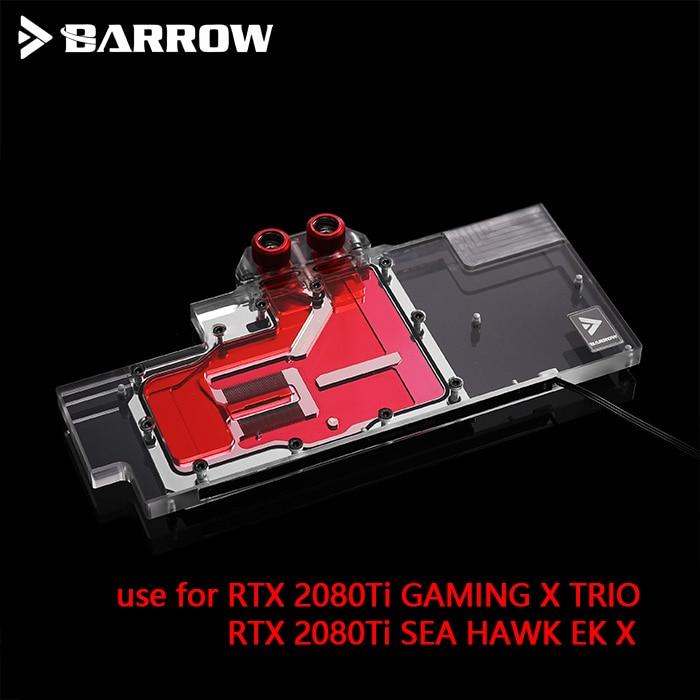 BARROW Water Block use for MSI RTX2080TI GAMING X TRIO Full Cover GPU Block Support Original