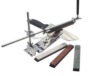Image 4 - مسن سكاكين من الفولاذ المقاوم للصدأ ، مسن سكاكين مطبخ احترافي ، زاوية تثبيت ثابتة مع الأحجار